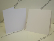 20 x Watercolour White Single Fold 280gsm Cards 18cm x 18cm Cardmaking AM265