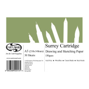 A5 Curtisward Surrey Cartridge Artists Drawing Paper Pad. For Pen, Pencil etc