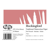 A5 Curtisward Bockingford Hot Press Watercolour Paper Pad. Smooth Artists Paper