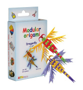 Modular Origami 2 x 54-Piece Small Dragonfly-1 Paper Set, Multi-Colour