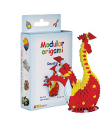 Modular Origami 336-Piece Small Rooster Paper Set, Multi-Colour