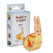 Modular Origami 274-Piece Small Snail Paper Set, Multi-Colour
