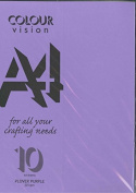 Plover Purple A4 Craft Card 225 gsm Sealed Pack of 10