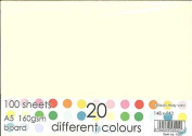 A5 20 Different Coloured Card