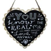 iTemer Blackboard Wooden Hanging Heart Wedding Love Gift Board Ornaments Chalkboard