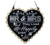 iTemer Wooden Blackboard Heart Carved Hollow Pendant Hanging Board Wedding Chalkboard Decorations