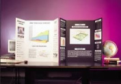 Black Tri fold Spotlight Foam Presentation Board 840 x 594mm x 1 A1 BLACK for displaying artwork and projects. Rigid and lightweight that is smooth and flat