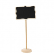Kingko® 1 PC Mini Wooden Chalkboard Blackboard Wordpad Message Board Holder with stand for Party Wedding Table Number