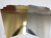 Gold & Silver Mirror Mirri Card Board - Xmas Metallic 1200micron 1.2mm (A5) 5 In a pack