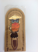 wise owl gold plated bookmark - gradulation present, size