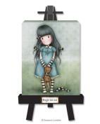 Santoro Gorjuss Canvas and Easel - Forget Me Not
