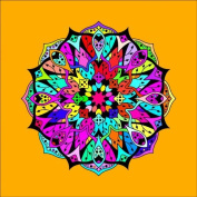 Mandala Colouring Picture # 4 Stretched, 120x120cm ***