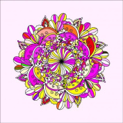Ornament Photograph 3 Colour-In Stretched, 90 x 90 cm