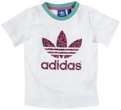adidas Originals Baby Girls' Tee White White