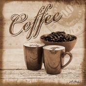 Eurographics H-K-AHA2132 Coffee Shop Image on Stretcher Frame 20 x 20 CM