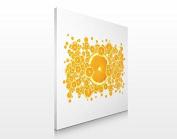 APALIS Assorted Designs Canvas Picture 70 x 70 cm, Retro Orange Pattern, 70 x 70