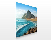 APALIS Assorted Designs Canvas Picture 70 x 70 cm, Gibraltar am Meer, 70 x 70