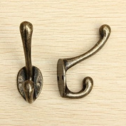 Souked Victorian Cast Iron Hook Coat Hat Tie Wrought Iron Wall Hooks