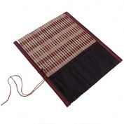 Nacpy Chinese Bamboo Writing Brushes Roll Bag Hanger Case Pouch Calligraphy Tools 1 Pcs