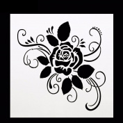 Bescita 5Pcs DIY Birthday Cake Stencil Spray Mould Decorating Print Sugar Sieve Sugar Craft Modelling Tool