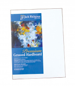 Jack Richeson 0.3cm Premium Tempered Gessoed Hardboard Panel, 25cm by 25cm