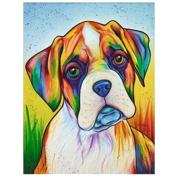 Dog DIY 5D Diamond Embroidery Painting Cross Stitch Craft Home Office Decor Round Diamond Painting Full Drill