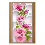 5D DIY diamond Painting Rose Flower Embroidery Diamonds Wall Stickers Decor Rhinestone Pasted DIY painting