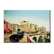 Canvas panel Canvas Monte Carlo Panoramic View Antique Cars Furniture City landscapes