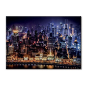Canvas panel Canvas China Shanghai View From Night Lights Interior Decoration City landscapes