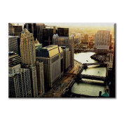Canvas panel Canvas USA Illinois Chicago View From River City Furniture landscapes