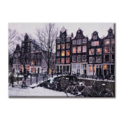 Canvas panel Canvas Amsterdam Netherlands Snowy Furniture City landscapes