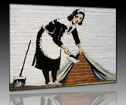 "Banksy Graffiti Canvas Print 30 x 40 CM Sweeper! """" Image mounted on stretcher frame! Pop Art pictures, Art prints, wall hangings, decorative prints ""Banksy"" Street Art Wall Hangings"