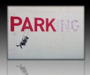 "Banksy Graffiti Canvas Print 100 x 70 CM Ready-Parking! Image on Stretcher Frame Art prints, wall hangings, decorative prints ""Banksy"" Street Art directly from manufacturer"
