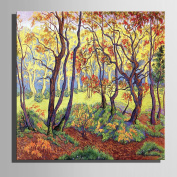 XIMUSAN Stretched Canvas Art Late Autumn Woods Scenery Decoration Painting £¬Frameless painting , 60*60*1