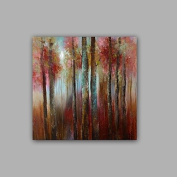 WSJ 100% Hand-Painted Abstract / Landscape Hang-Painted Oil PaintingModern / Classic One Panel Canvas Oil Painting For Home Decoration , include inner frame