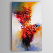 WSJ Hand-Painted Abstract Canvas Oil Painting With Stretcher For Home Decoration Ready to Hang , include inner frame , 46cm x 90cm