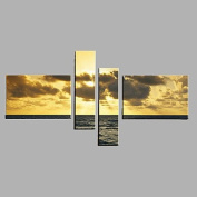 HJL Hand-Painted Modern Abstract Oil Painting Four Panel Canvas Oil Painting Multi Split Oil Painting , include inner frame