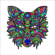 Wolf 1 Colouring Stretched, 90 x 90 cm