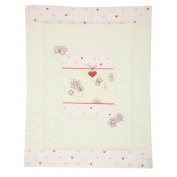 ALVI Crawling Blanket with Appliqué Butterfly 100 x 135 cm