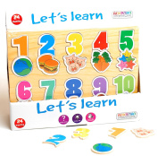 Prepare Them For School - Lets Learn Picture Number Puzzle - Fun Idea For Boy Boys Girl Girls Kids Children Child - Ideal Fun Toys & Games Present Gift Idea for Christmas Xmas Stocking Filler Top Ups Birthdays Easter Rewards Treats Pocket Money Age 3+ ..