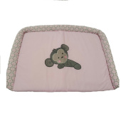 Baby Bedding Design Pink Monkey Dresser Cover