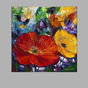 SHENCHI Floral Oil Painting Acrylic Painting Chinese Oil Painting Manufacture Cheap Price Painting , 50cm x 50cm