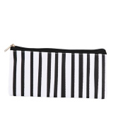 Cosanter Pencil Pouch Bag Case Canvas Black Lines Pattern Makeup Glasses Bag for Students Teen Girl