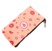 Cosanter Pencil Case Bag Holder Sweet Watermelon Pattern Canvas Glasses Cosmetic Bag for Women Girls