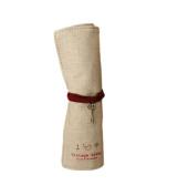 Cosanter Pencil Pouch Rolled Canvas Retro Design Key Pendant Makeup Brush Pouch for Women