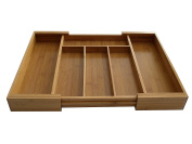 Axis Bamboo Expandable Drawer Organiser, 30cm - 50cm