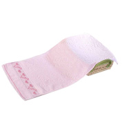 Omkuwl Pure Cotton Face Towels with Heart Pattern Absorbent Face Towels 3 Colours pink