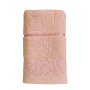 Omkuwl Jacquard Water Cube Pattern Pure Cotton Towel Beach Bath Absorbent Drying Cloth pink
