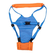 Fostly Baby Walking Harness Reins Four Seasons Breathable Multi-purpose Safety Walking Strap Walking Strap Anti-lost Strap For Toddler Orange And Blue