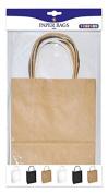 Playbox - Paper Bags, Natural, Black & White 245 x 190 mm 6 Pcs, Multi